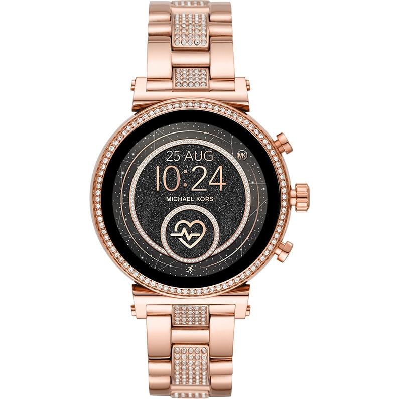 Fotografie Ceas smartwatch MICHAEL K Sofie Heart Rate Pavé, MKT5066, Stainless Steel, Rose Gold