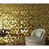 3D декоративни гипсови панели, пана 0039 Еffet Marbella, 48х48см, цвят Бял