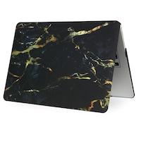 "MacBook New Air 2018 - 2020 Retina tok, 13"", black marble, védőtok típusú"