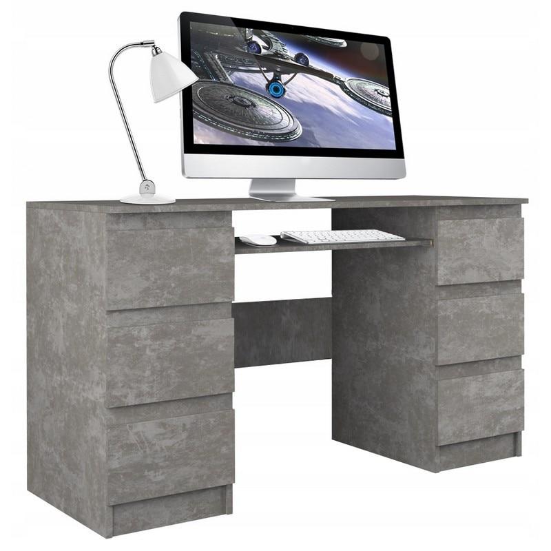 Berga Számítógép asztal - beton fOG2Eo