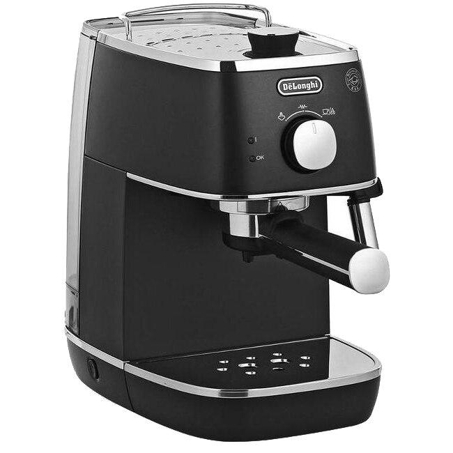 Fotografie Espressor manual De'Longhi Distinta ECI 341 BK, 1100 W, 15 Bar, Sistem Cappuccino, Negru