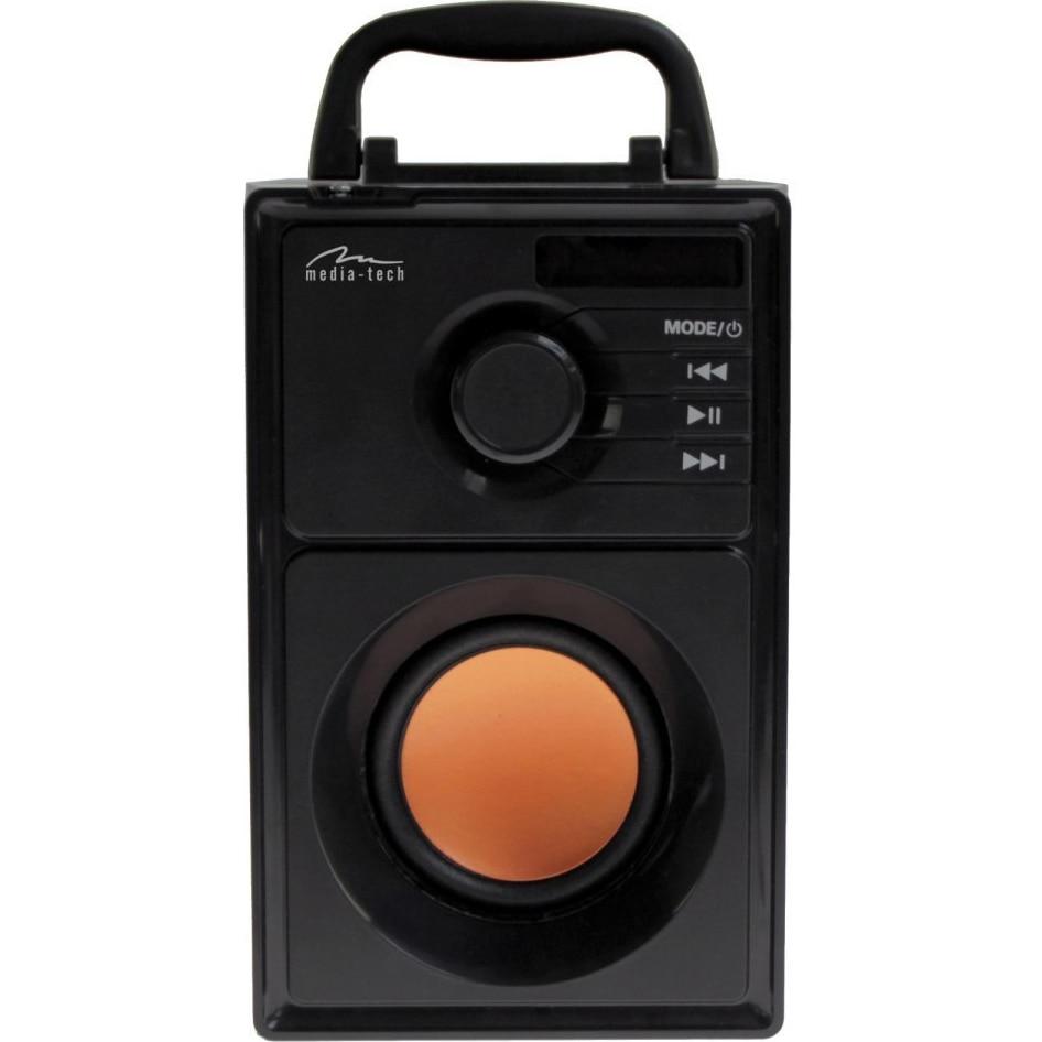 Fotografie Boxa portabila 2.1 Media-Tech BOOMBOX BT, Bluetooth, Radio FM, MP3, USB, MicroSD, RMS 15W, Negru