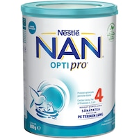 Lapte praf Nestle NAN 4 Optipro, 800 g, 2-3 ani