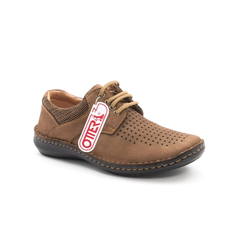 Pantofi barbati de vara piele naturala Otter 9560 04-2, coniac 43 EU