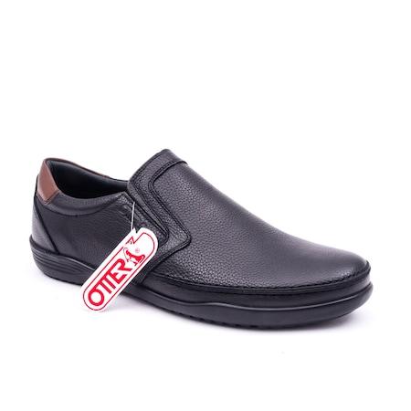 Pantofi barbati casual piele naturala Otter 220, negru 42 EU