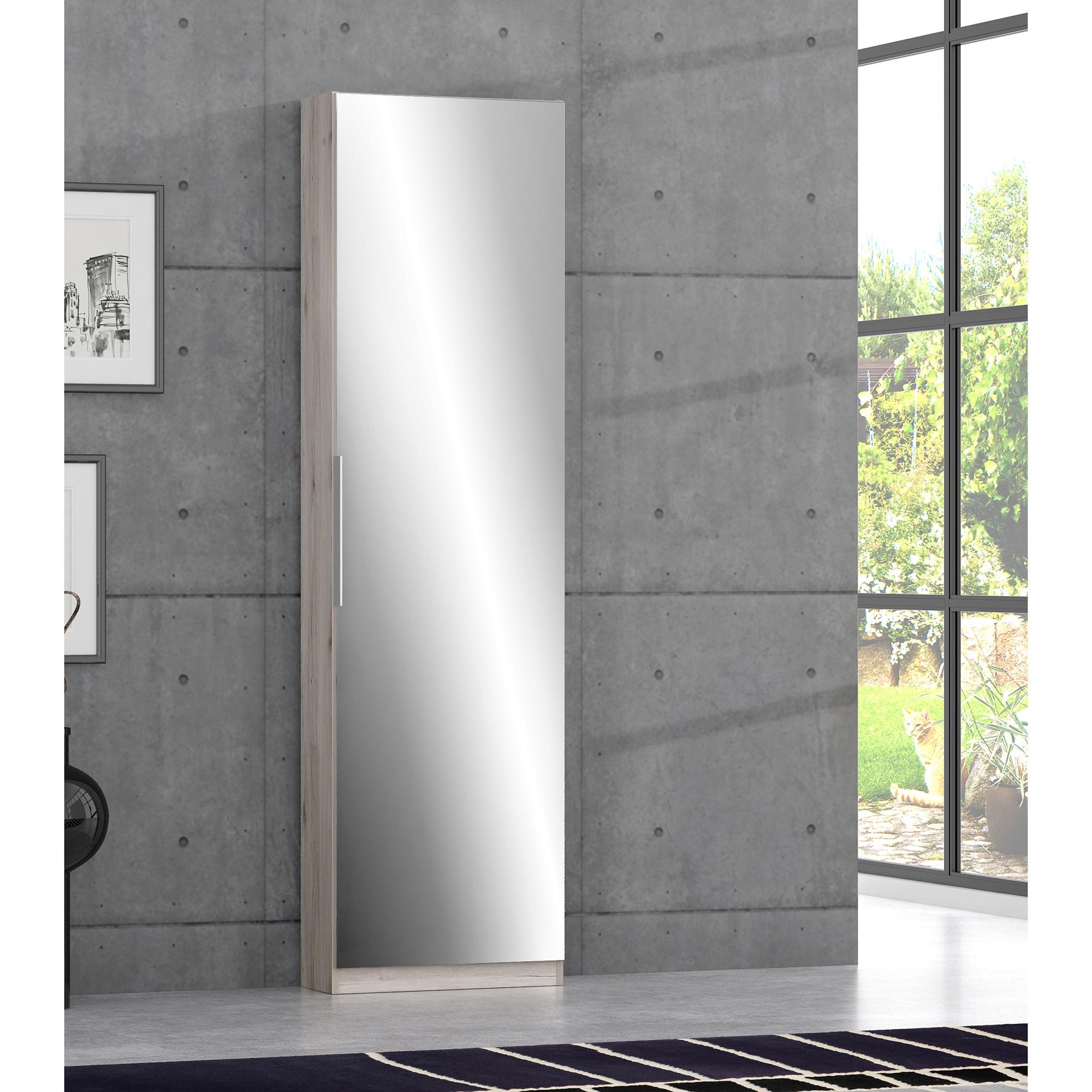 Fotografie Pantofar Kring Bright II, 50 x 180 x 20, Stejar/oglinda