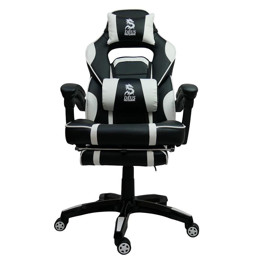 Zenga Deus Large Gamer Szék Műbőr Fekete Fehér Max. súly: 130 Kg