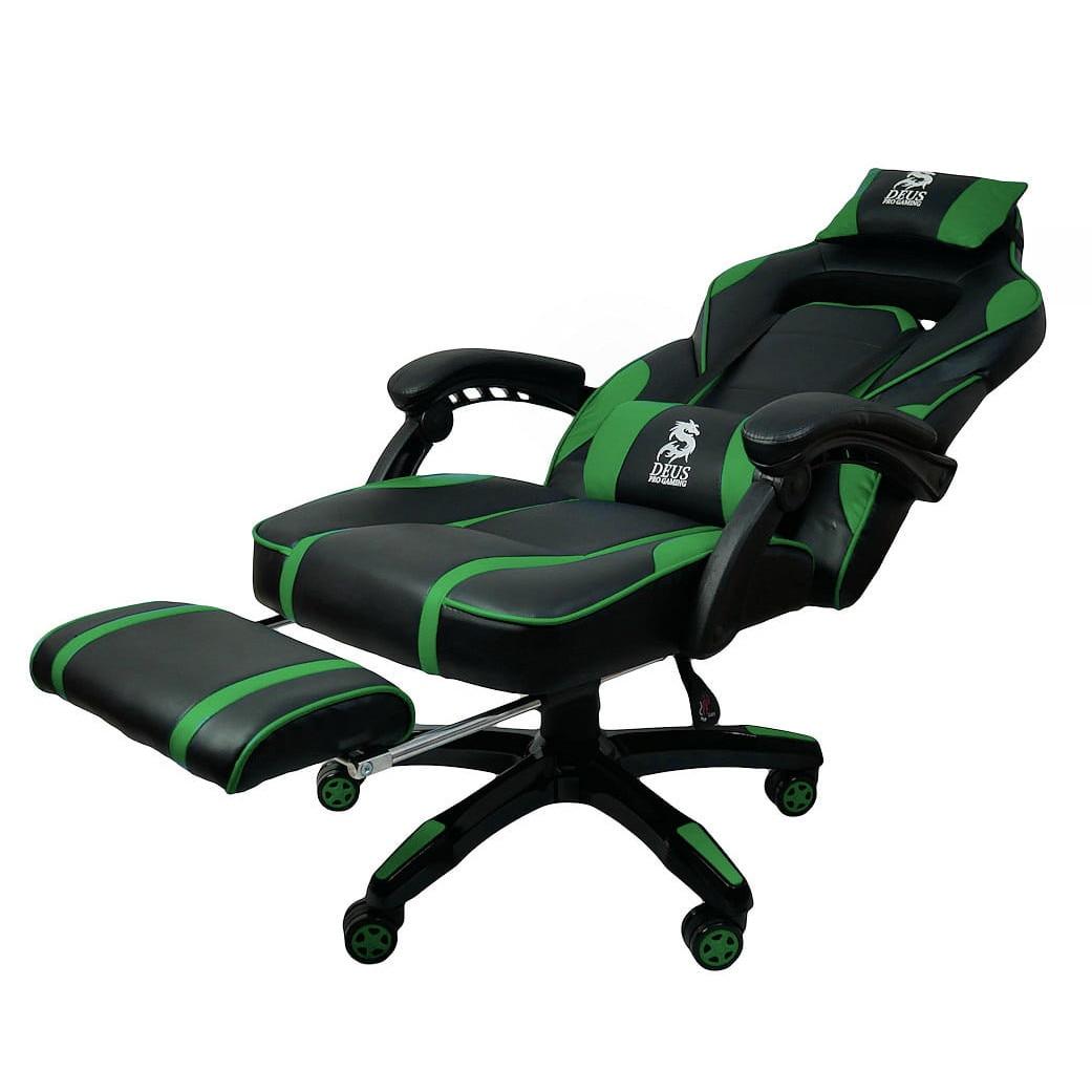 Zenga Deus Large Gamer Szék Műbőr Fekete Zöld Max. súly: 130 Kg