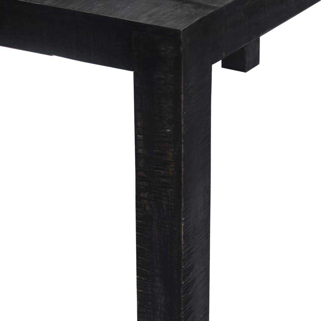 vidaXL fekete tömör mangófa étkezőasztal 180 x 90 x 76 cm K26wvp