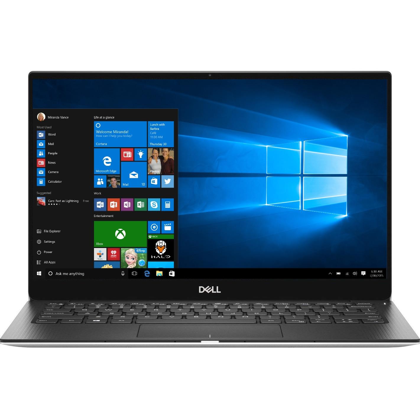 "Fotografie Laptop ultraportabil Dell XPS 13 9380 cu procesor Intel® Core™ i7-8565U pana la 4.60 GHz Whiskey Lake, 13.3"", 4K Ultra HD, Touch, 16GB, 1TB SSD, Intel UHD Graphics 620, Windows 10 Pro, Platinum Silver"