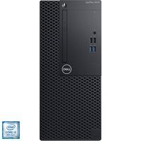 Настолен компютър Dell OptiPlex 3070 MT, Intel® Core™ i3-9100, RAM 4GB, HDD 1TB, Intel® UHD Graphics 630, Ubuntu, Black