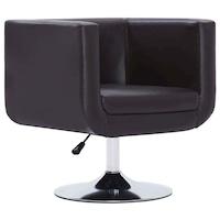 Въртящ фотьойл vidaXL, 62х56х76 см, кафяв, изкуствена кожа