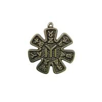 Медальон розетата от Плиска с опаковка, Сержани, цвят антик, размер d 50 мм