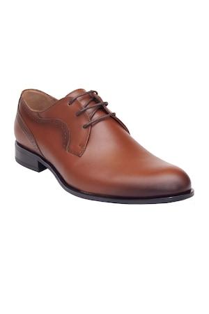 Pantofi eleganti Pieton, din piele naturala, Maro, 39