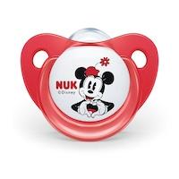NUK Disney Minnie Baba cumi Trendline 0-6h piros védőtokkal