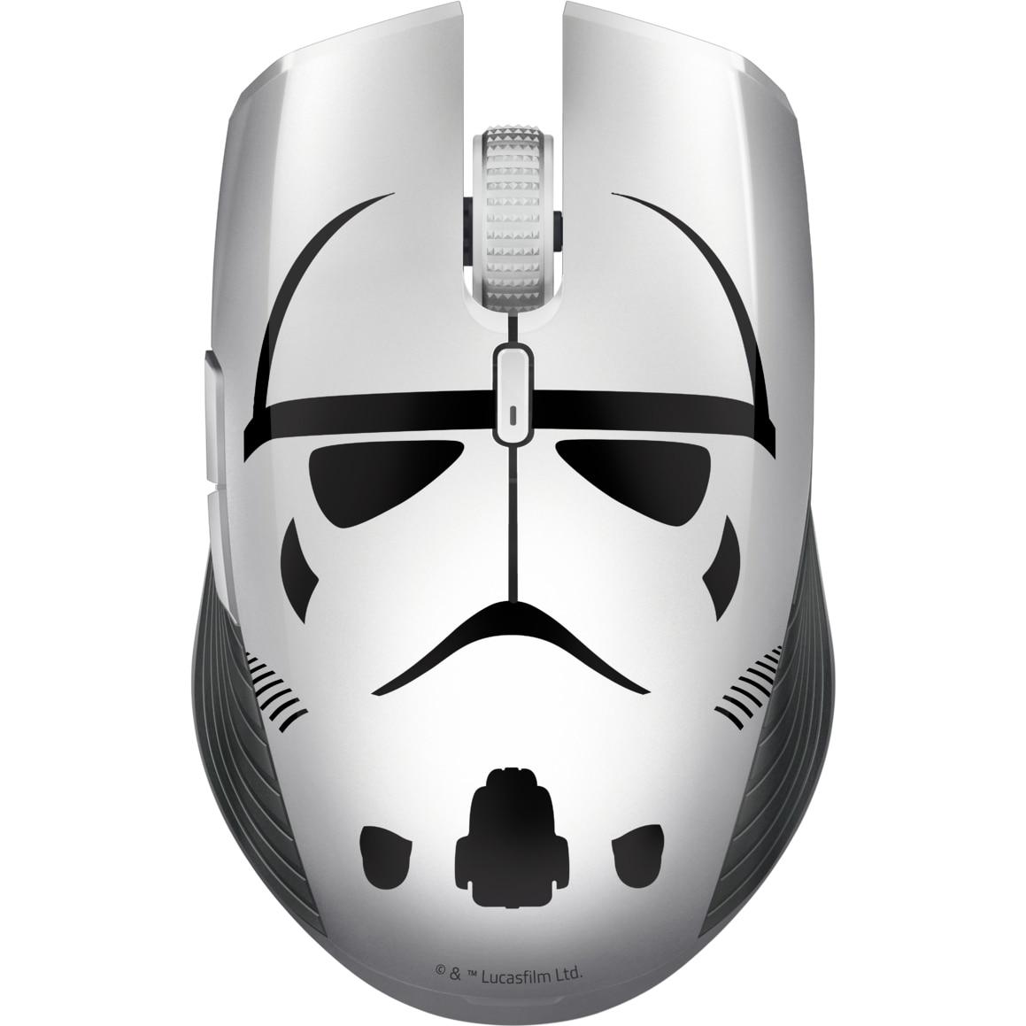 Fotografie Mouse gaming wireless Razer Atheris, Bluetooth&2.4GHz, Stormtrooper Edition