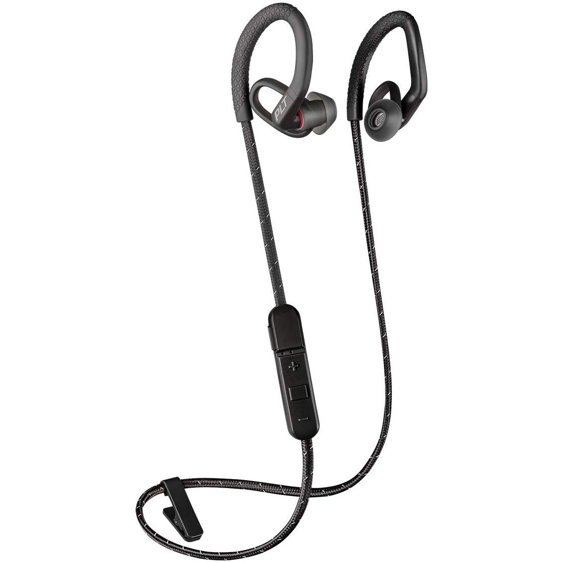 Fotografie Casti Sport Bluetooth Plantronics BackBeat Fit 350, Sweatproof, Waterproof, Black/Grey