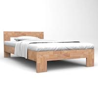 vidaXL tömör tölgyfa ágykeret 160 x 200 cm