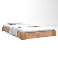 vidaXL tömör tölgyfa ágykeret 120 x 200 cm