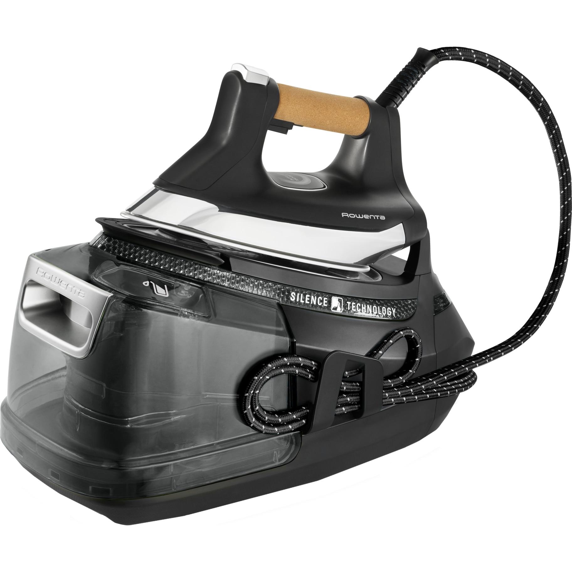 Fotografie Statie de calcat Rowenta Silence Pro DG9268F0, 2800W,1.3l, 600g/min, Talpa Microsteam 400HD 3De Laser, Negru