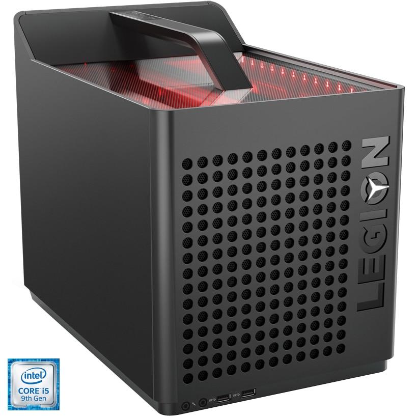 Fotografie Sistem Gaming PC Lenovo Legion C530-19ICB cu procesor Intel® Core™ i5-9400F pana la 4.10 GHz, Coffee Lake, 16GB DDR4, 512GB SSD M.2 2280 PCIe, NVIDIA GeForce GTX 1650 4GB GDDR5, Free DOS, Iron Grey