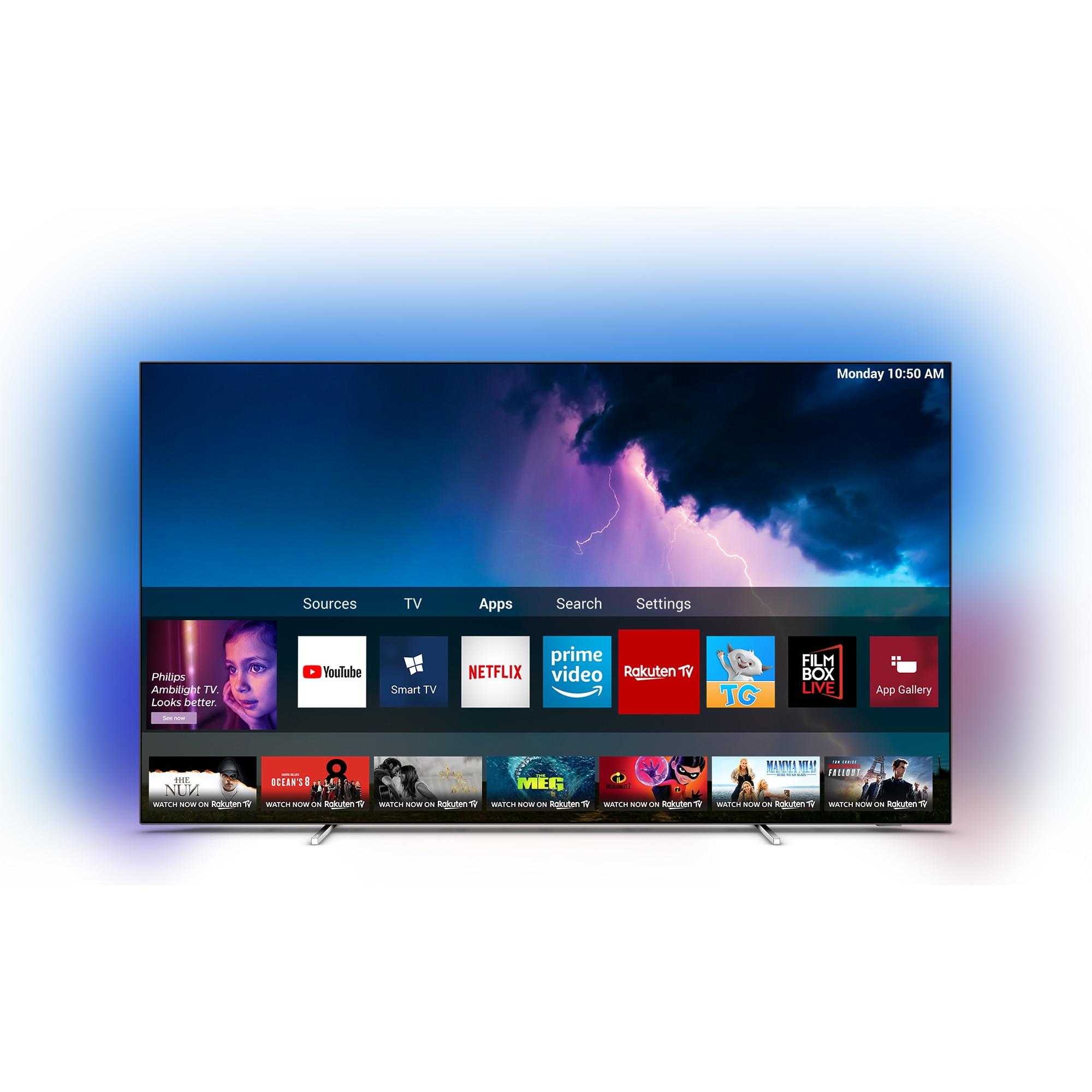 Fotografie Televizor OLED Smart Philips, 139 cm, 55OLED754/12, 4K Ultra HD