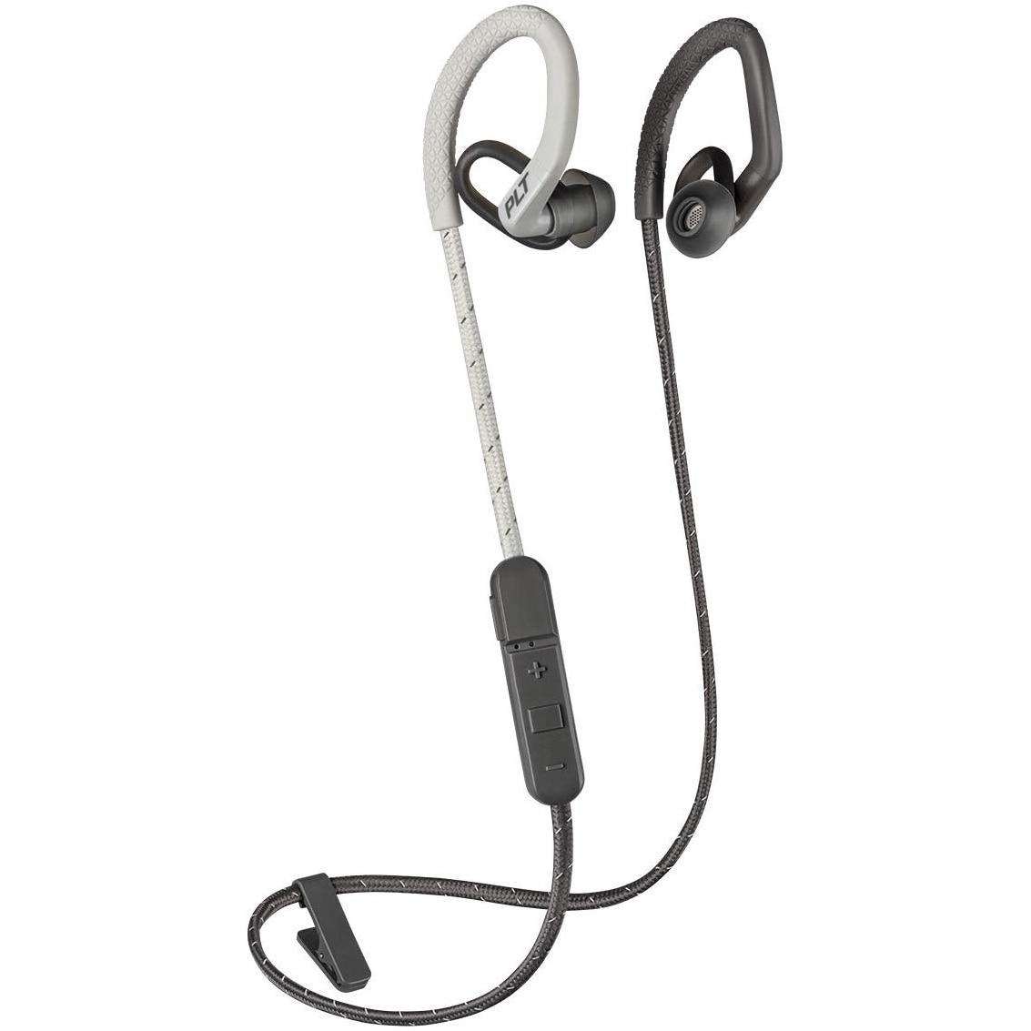 Fotografie Casti Sport Bluetooth Plantronics BackBeat Fit 350, Sweatproof, Waterproof, Grey/Bone