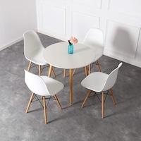 scaun vintage alb