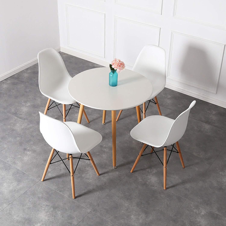 Fotografie Set 4 scaune dining Kring Ray, PP/lemn, Alb