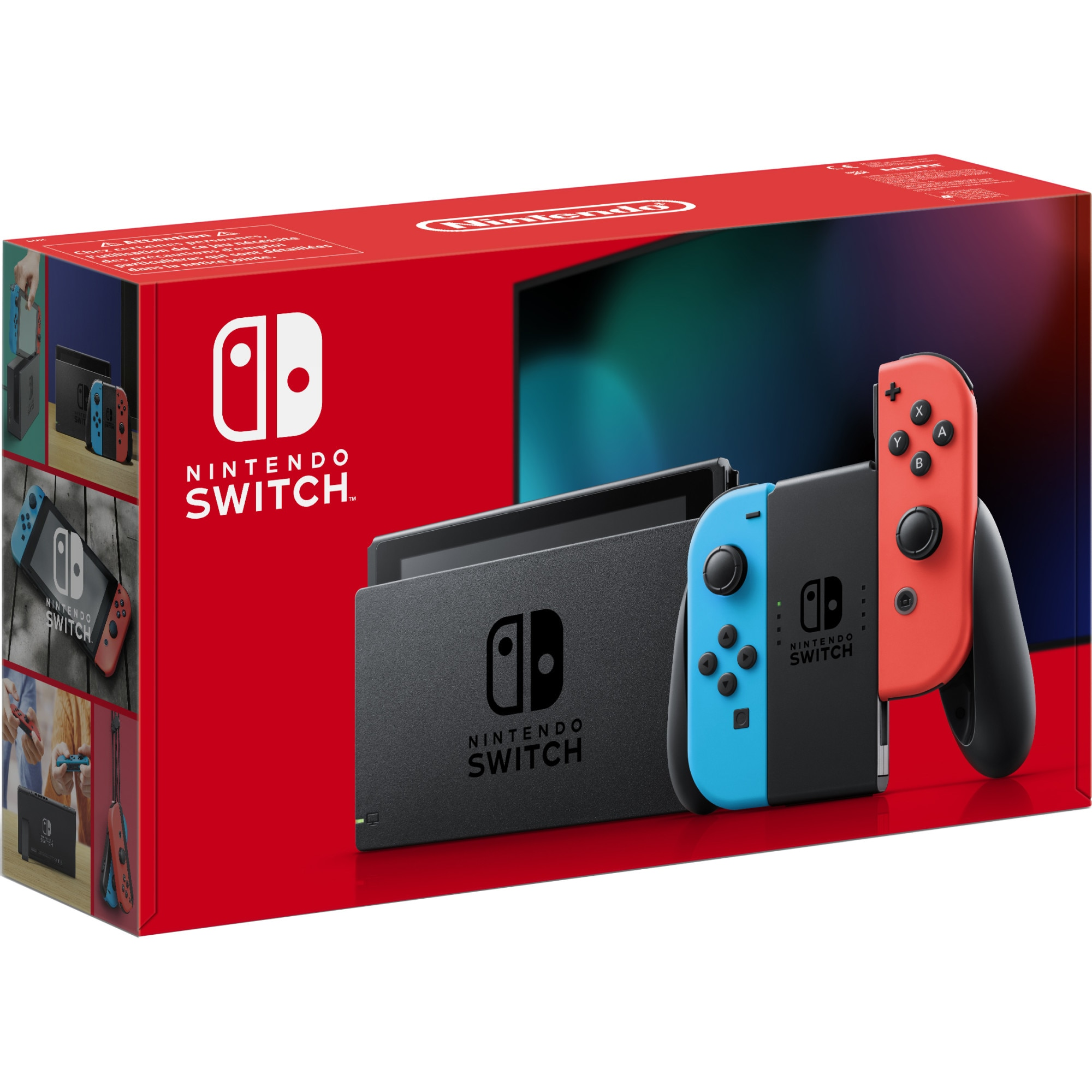 Fotografie Consola NINTENDO SWITCH (WITH NEON RED & NEON BLUE JOY-CONS)