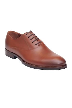 Pantofi barbatesti Pieton, din piele naturala, 165, Maro, 42