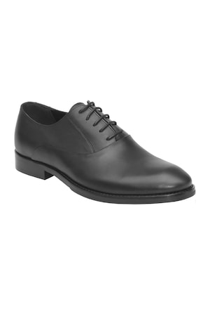 Pantofi barbatesti Pieton, din piele naturala, 165, Negru, 42