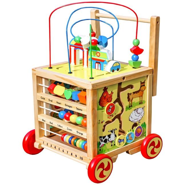 Fotografie Antepremergator din lemn M-Toys multifunctional, cu abac pentru copii