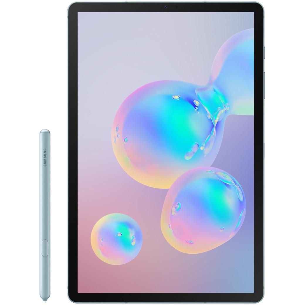 """Fotografie Tableta Samsung Galaxy Tab S6, Octa-Core, 10.5"""", 6GB RAM, 128GB, 4G, Cloud Blue"""