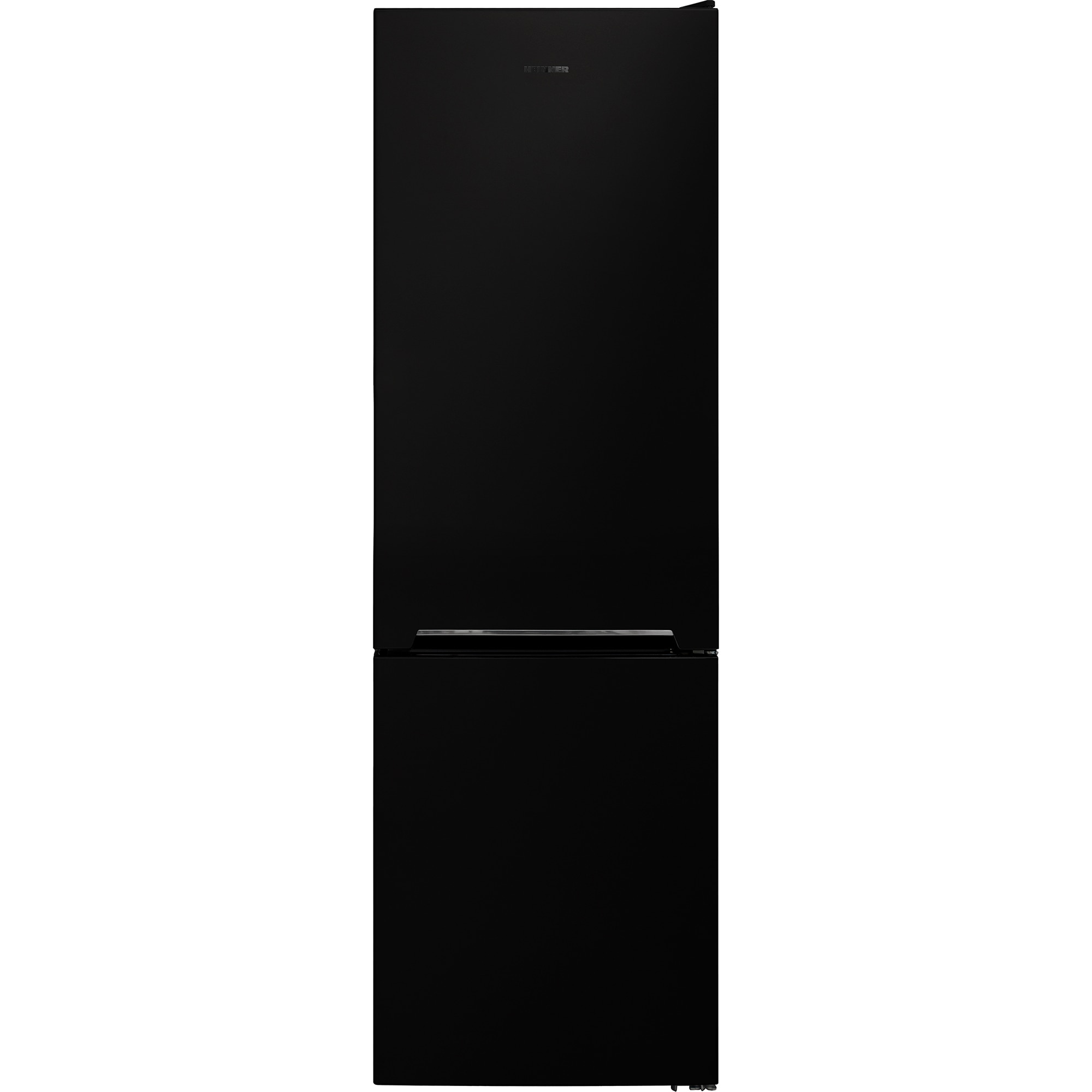 Fotografie Combina frigorifica Heinner HC-V268BKF+, 268 l, Clasa F, Iluminare LED, Control mecanic, Termostat ajustabil, H 170 cm, Negru
