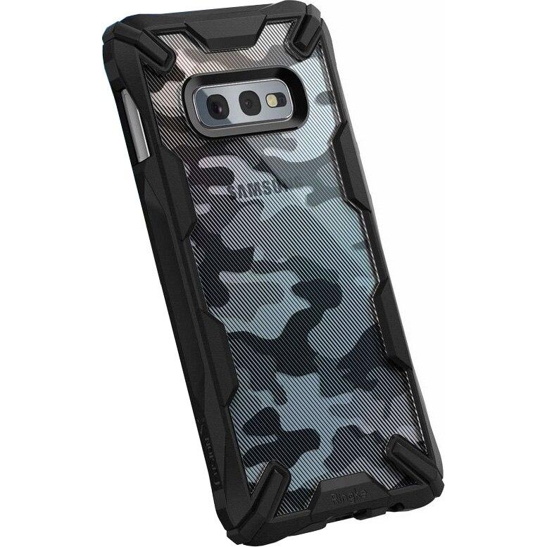 Fotografie Husa de protectie Ringke pentru Samsung Galaxy S10e fusion x design camo, Negru