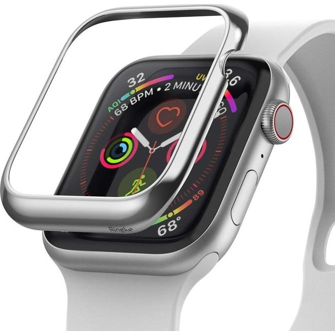 Fotografie Folie de protectie Ringke Bezel Styling pentru Apple Watch 38mm, Gri Inox