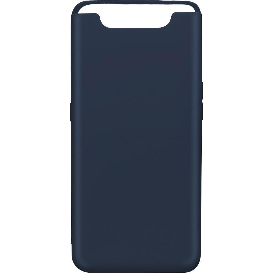 Fotografie Husa de protectie Lemontti pentru Galaxy A80, Silicon Silky, Albastru