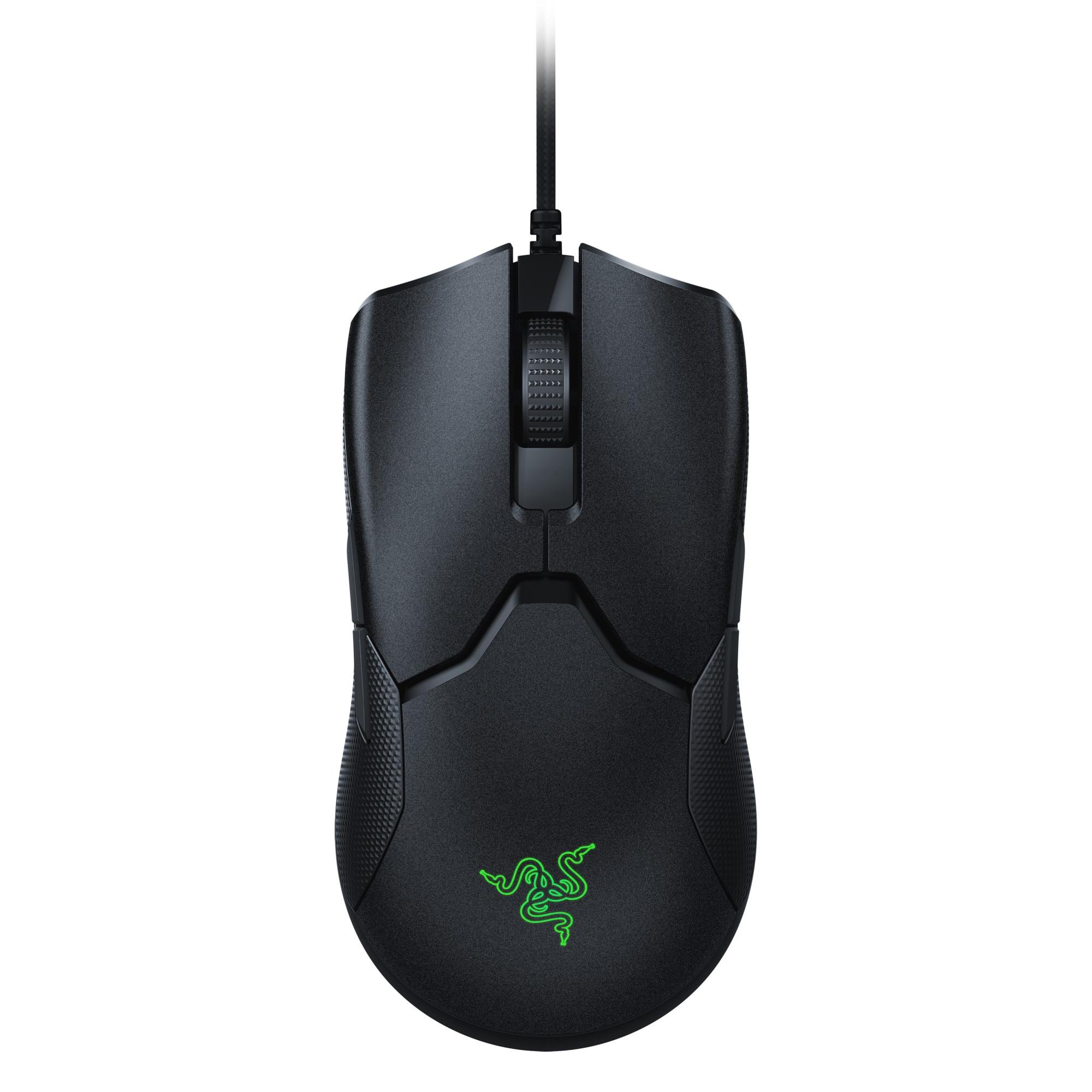 Fotografie Mouse gaming Razer Viper, Ultrausor 69g, cablu SpeedFlex, iluminare Chroma RGB, Negru
