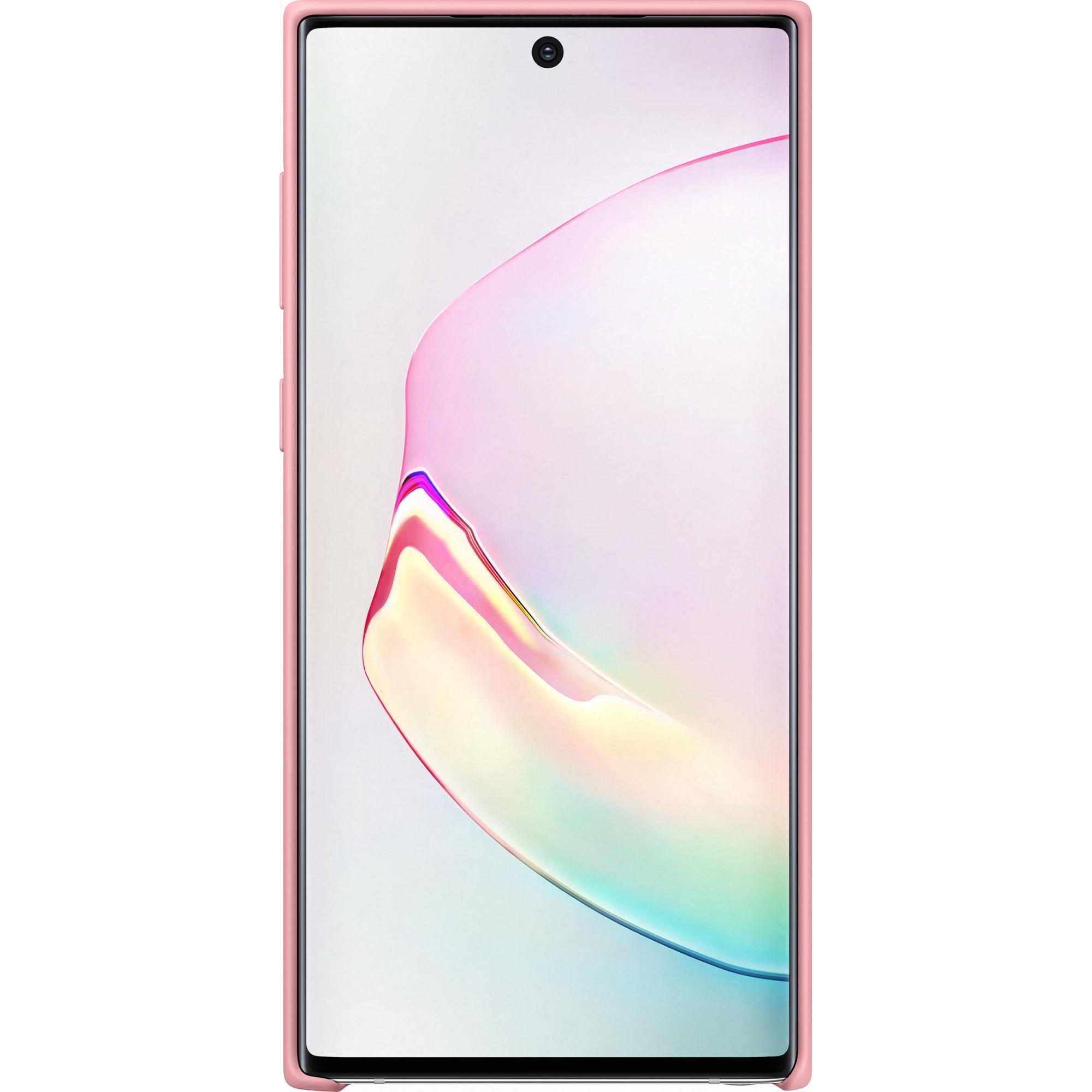 Fotografie Husa de protectie Samsung Silicon pentru Galaxy Note 10, Pink