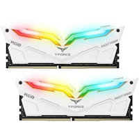 Памет Team Group T-Force NIGHT HAWK RGB DDR4, 16GB(2x8GB), 3200 mhz, CL16-18-18-38, 1.35V, Бял