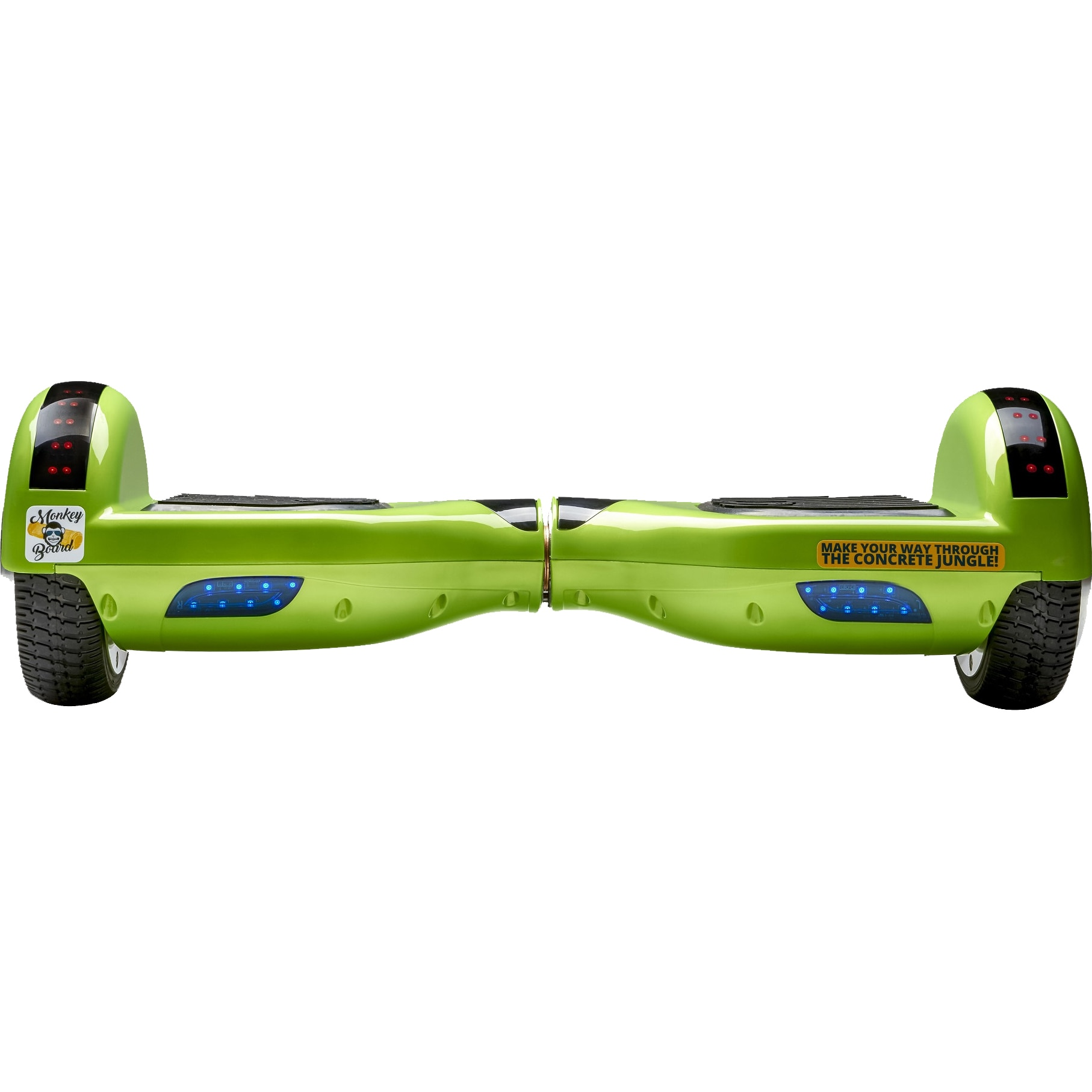 Fotografie Hoverboard Original MonkeyBoard® Action Green ,Scuter electric,roti 6.5 inch,bluetooth,geanta de transport cadou,led-uri,lumini de zi/noapte,boxa incorporata,1000W,