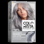 Боя за коса L'Oreal Paris Colorista Silver Grey, Гел, Перманентна, 204 мл