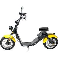 Moped Electric FreeWheel MotoRo S1 Galben - Autonomie 40 Km Viteza 45 Km/h Omologat RAR Motor 1200 W