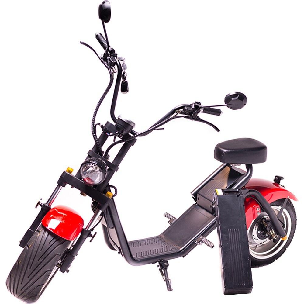 Fotografie Moped Electric FreeWheel MotoRo S1 Rosu - Autonomie 40 Km Viteza 45 Km/h Omologat RAR Motor 1200 W