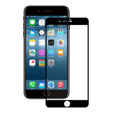 Eiger 3D Glass Case Friendly Curved Tempered Glass - калено стъклено защитно покритие с извити ръбове за целия дисплея на iPhone 8, iPhone 7, iPhone 6/6S (черен-прозрачен)