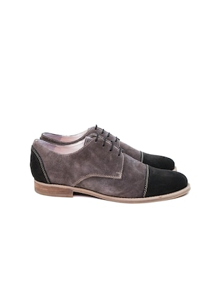 Pantofi Barbati by Mircea Florea, 100% Piele Naturala, Maro, 42 EU