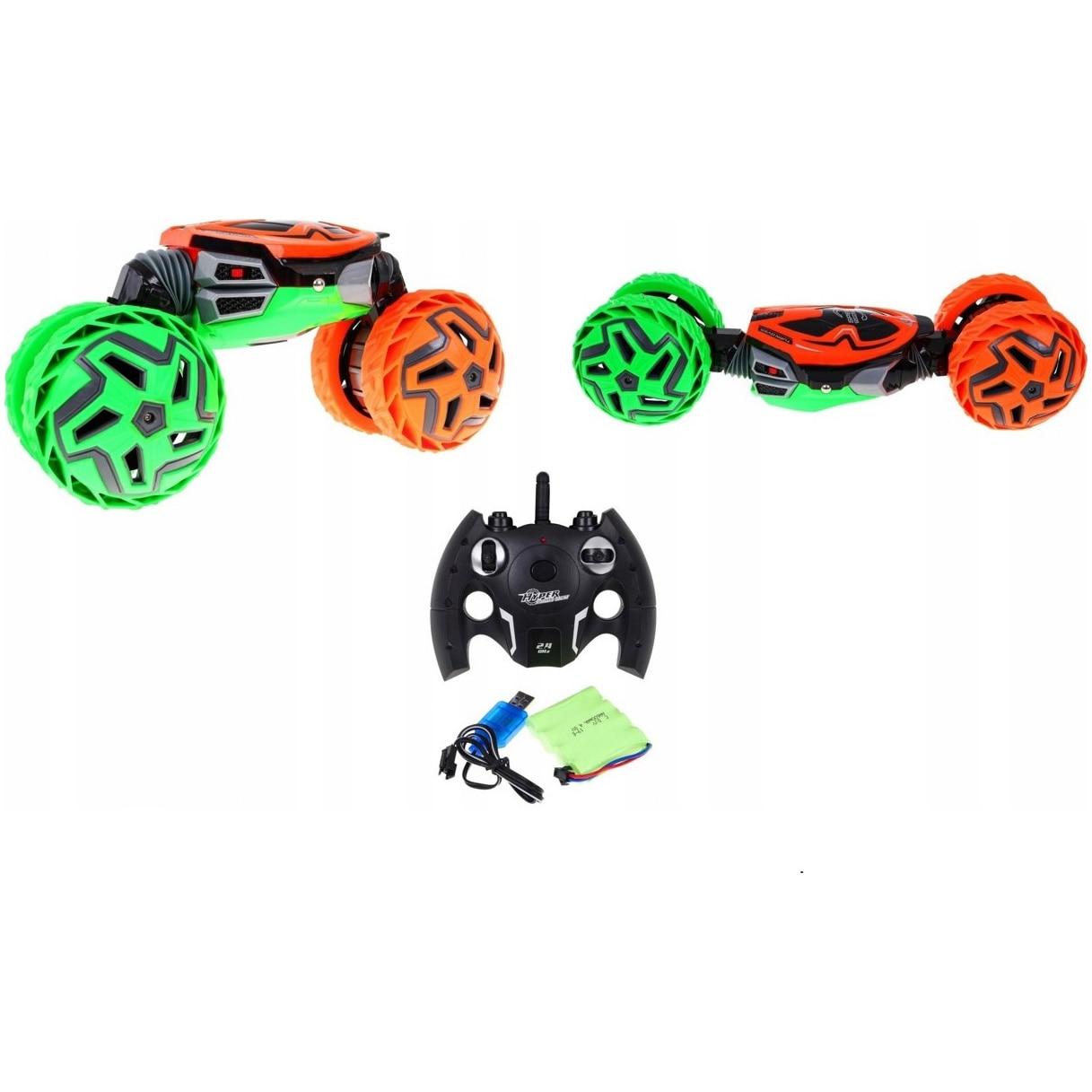 Fotografie Masinuta M-Toys cu telecomanda, Twist, Scala 1:12, Verde / Portocaliu