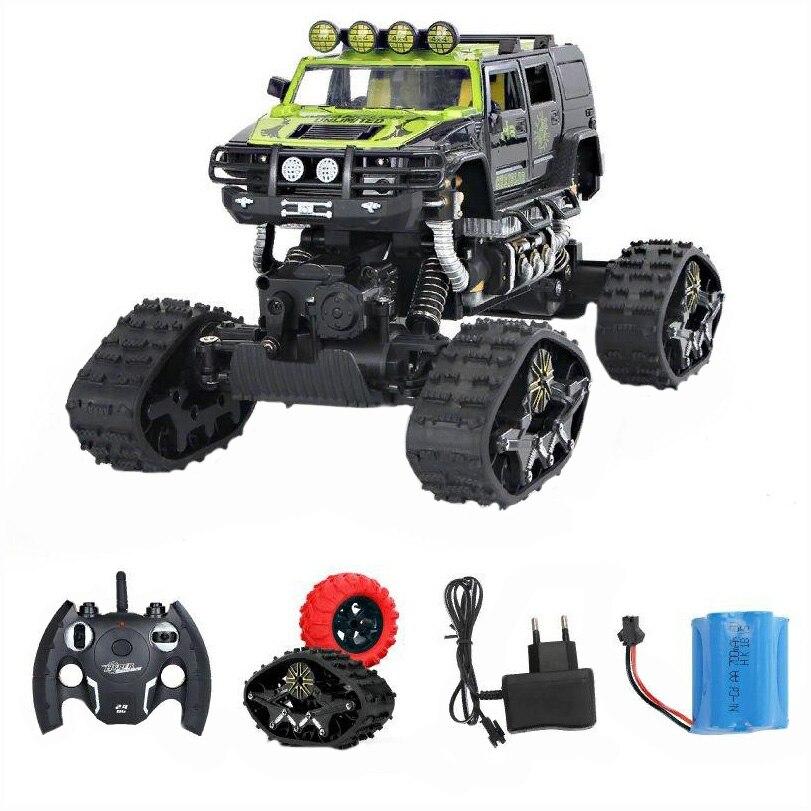 Fotografie Masinuta M-Toys cu telecomanda, Double all terrain, Scala 1:14, Galben