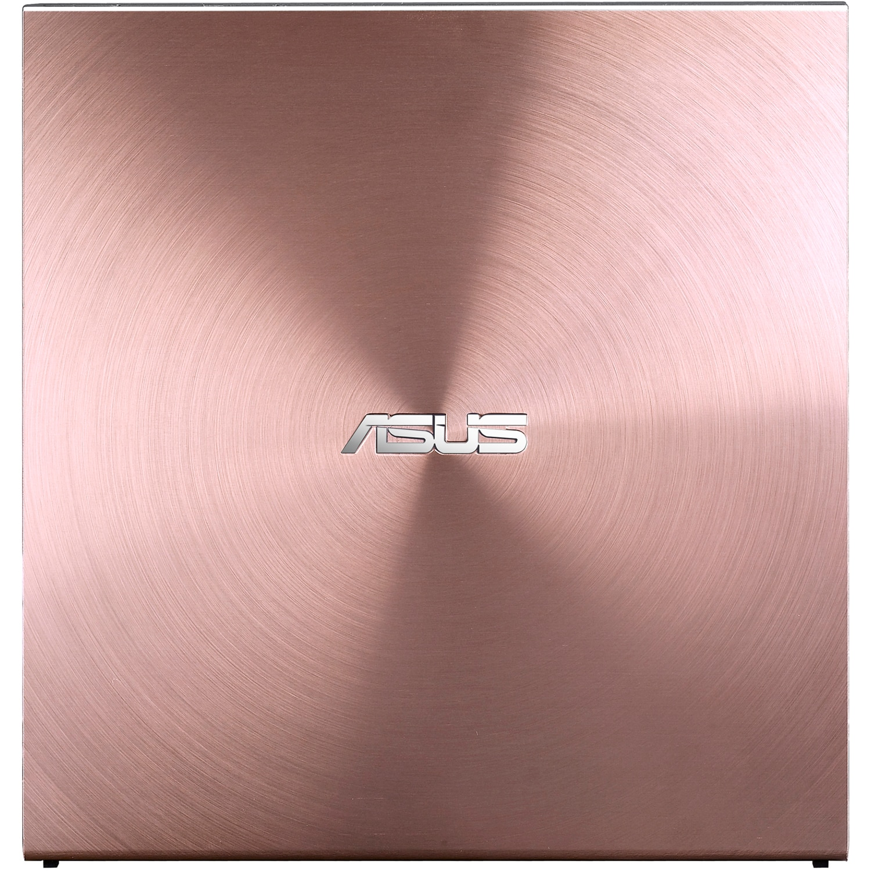 Fotografie DVD writer extern ASUS SDRW-08U5S-U, 8X, ultra-subtire 12.9mm, suport M-DISC, compatibil cu Windows si Mac OS, ASUS Webstorage gratuit 12 luni, Nero BackItUp, E-Green, Roz
